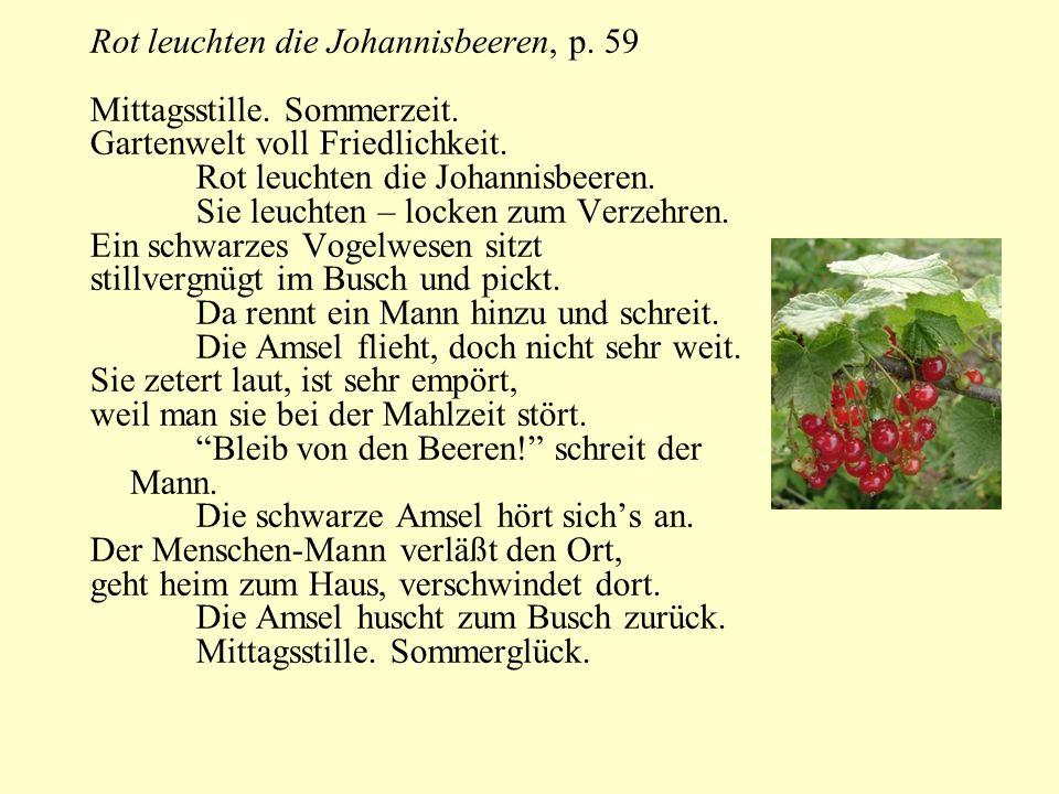 Rot leuchten die Johannisbeeren, p. 59
