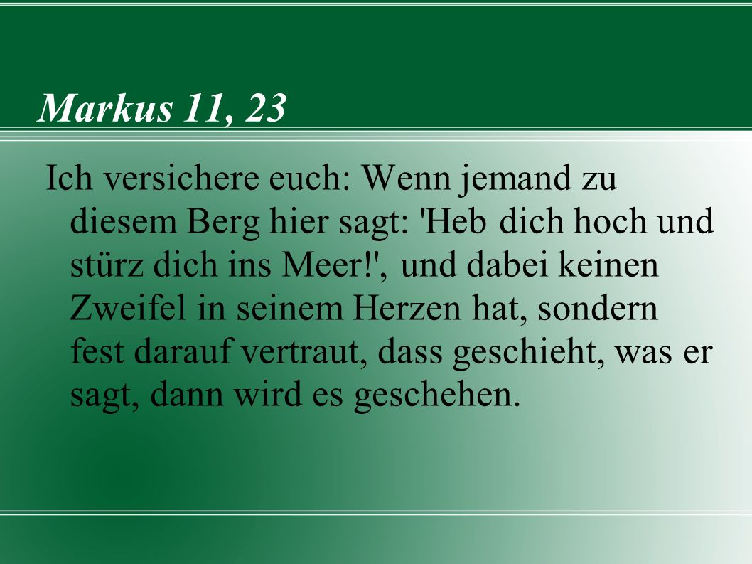 Markus 11, 23