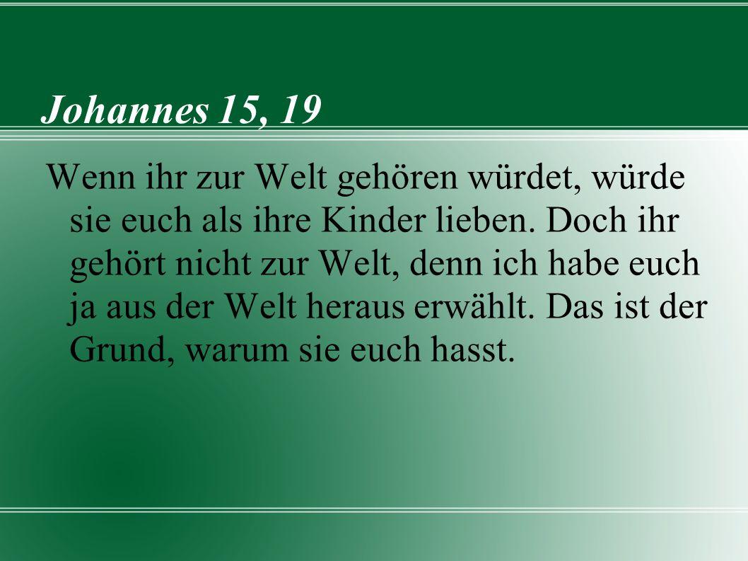 Johannes 15, 19