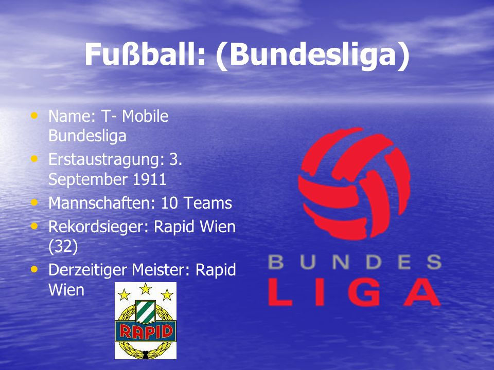 Fußball: (Bundesliga)