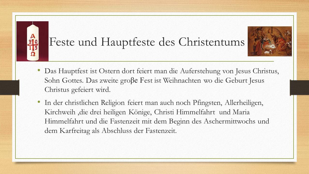 Feste und Hauptfeste des Christentums