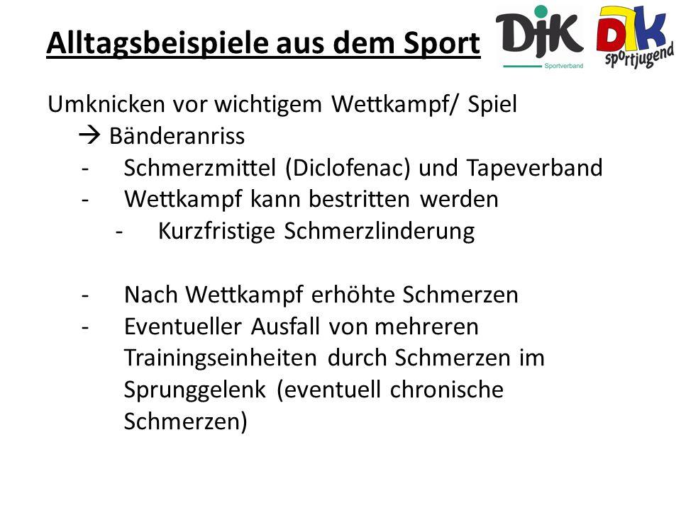 Alltagsbeispiele aus dem Sport