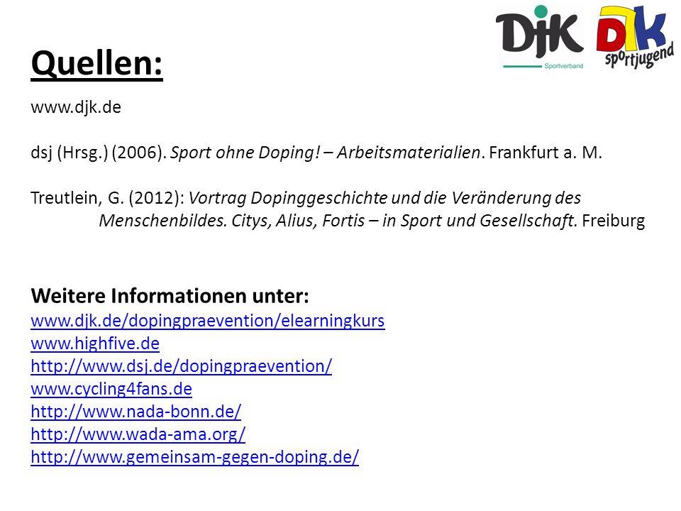 Quellen: Weitere Informationen unter: www.djk.de