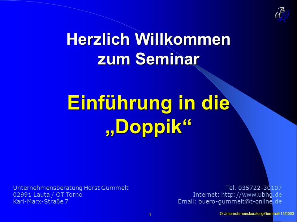 Herzlich Willkommen zum Seminar