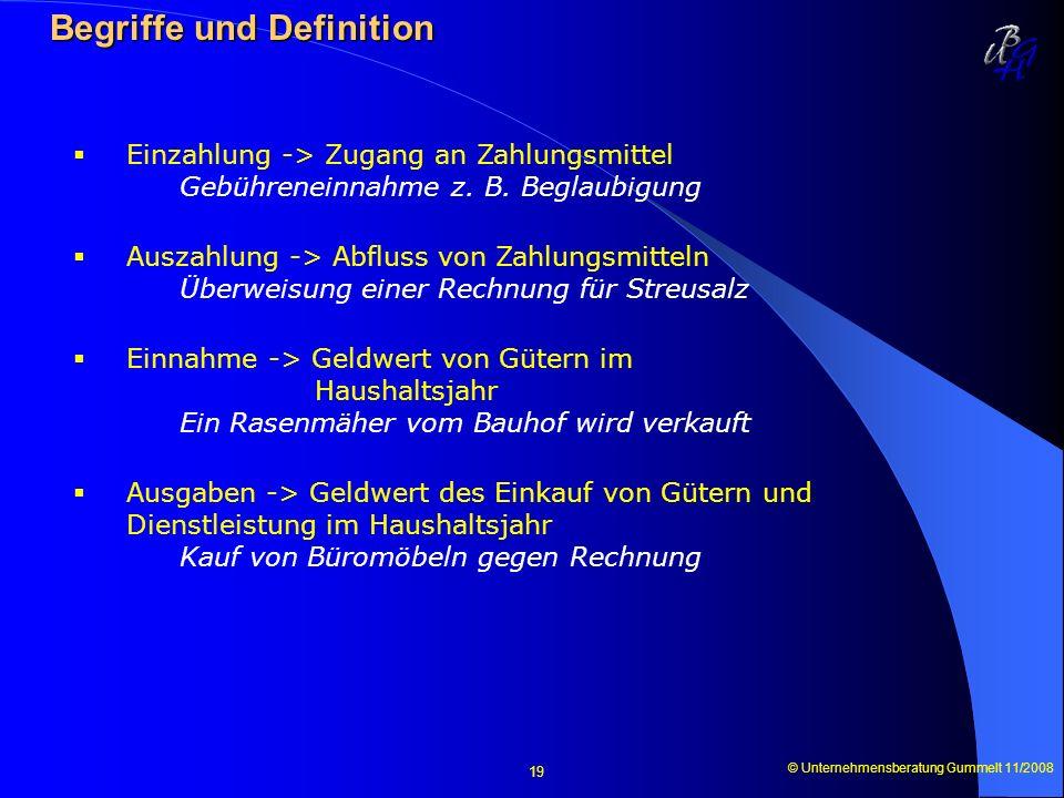 Begriffe und Definition