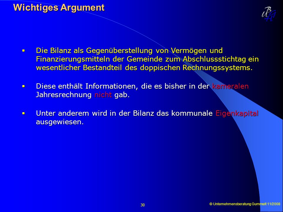 Wichtiges Argument