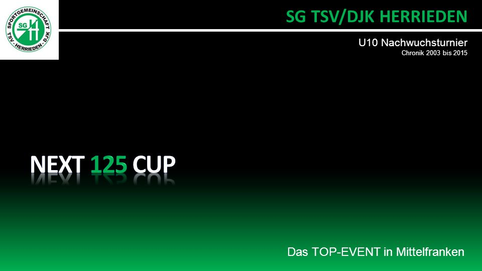 NEXT 125 CUP SG TSV/DJK HERRIEDEN Das TOP-EVENT in Mittelfranken