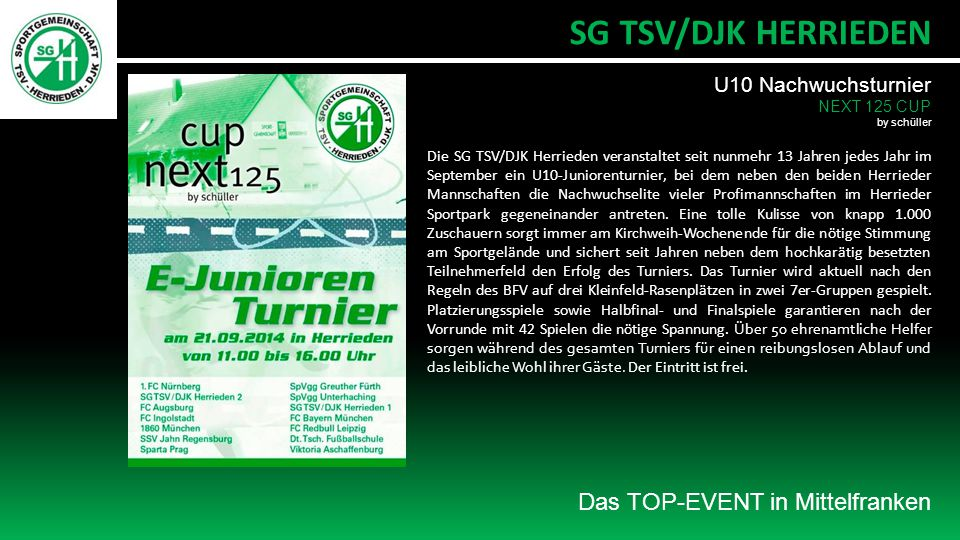 SG TSV/DJK HERRIEDEN Das TOP-EVENT in Mittelfranken