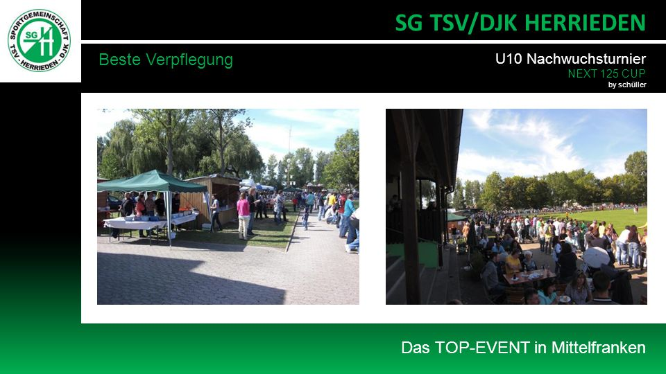 SG TSV/DJK HERRIEDEN Beste Verpflegung Das TOP-EVENT in Mittelfranken