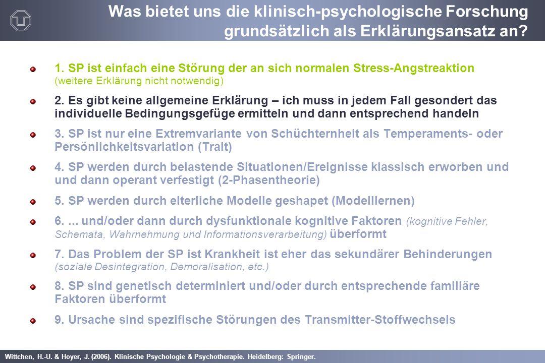 Was bietet uns die klinisch-psychologische Forschung grundsätzlich als Erklärungsansatz an