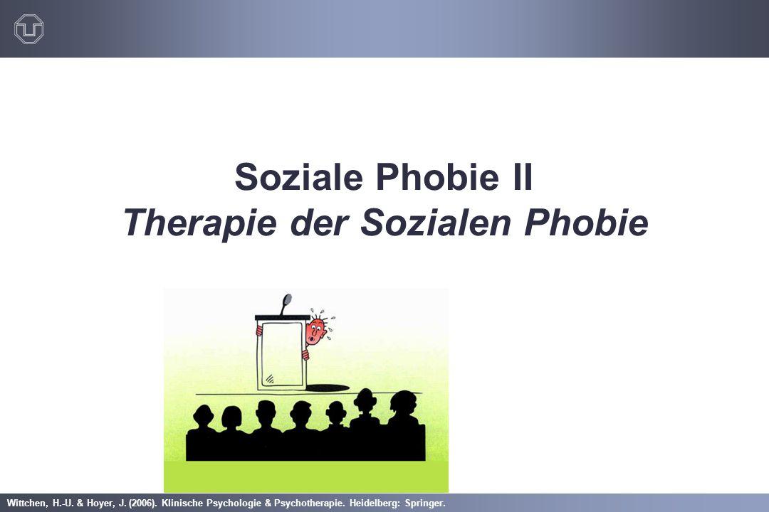 Soziale Phobie II Therapie der Sozialen Phobie