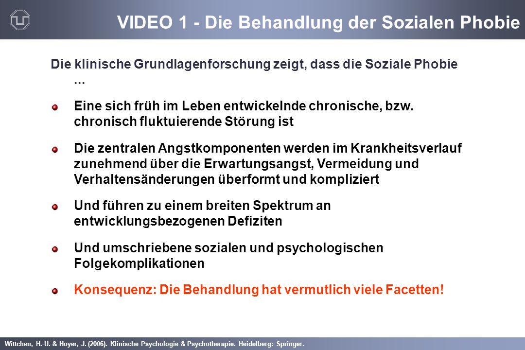 VIDEO 1 - Die Behandlung der Sozialen Phobie