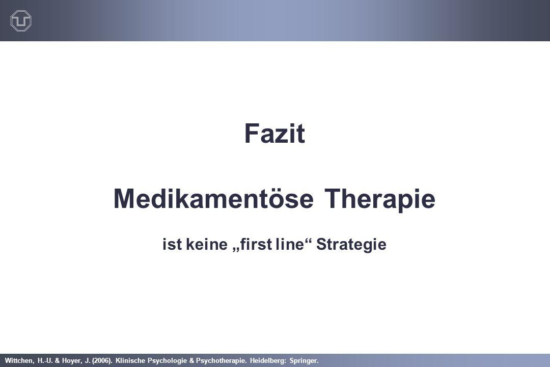 """Medikamentöse Therapie ist keine """"first line Strategie"""