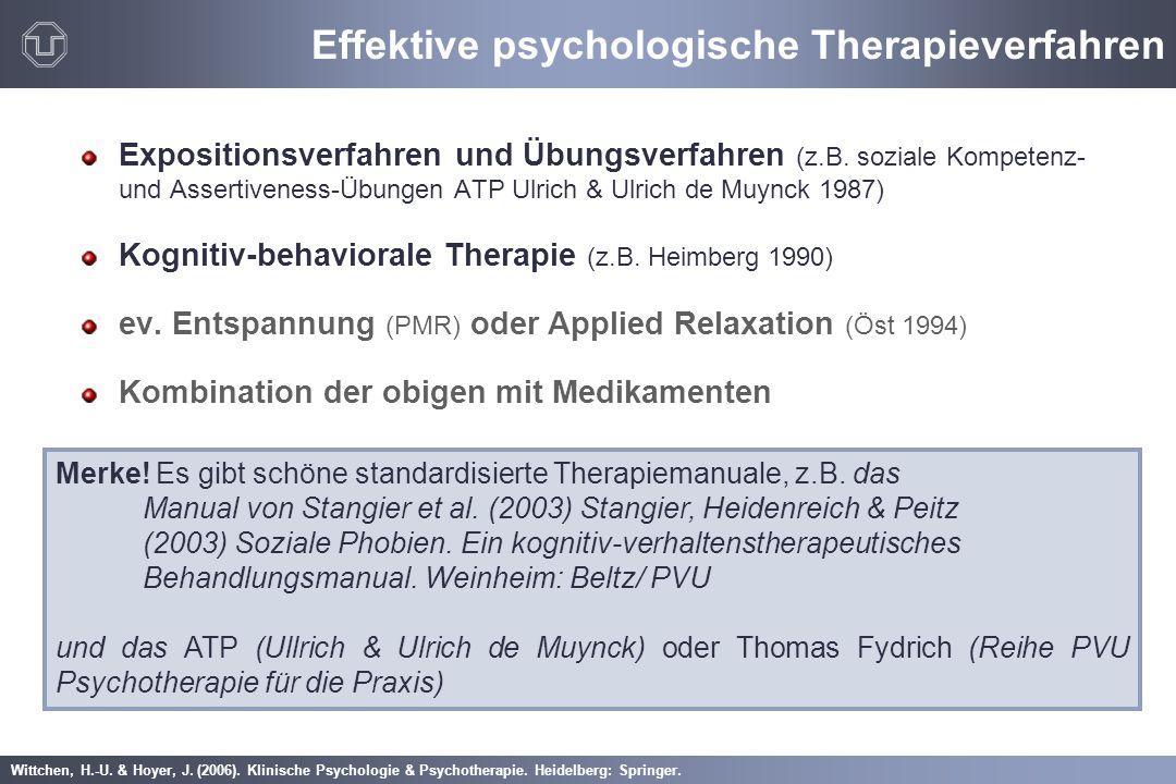 Effektive psychologische Therapieverfahren