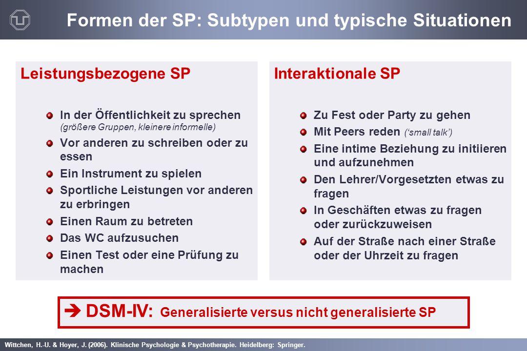 Formen der SP: Subtypen und typische Situationen