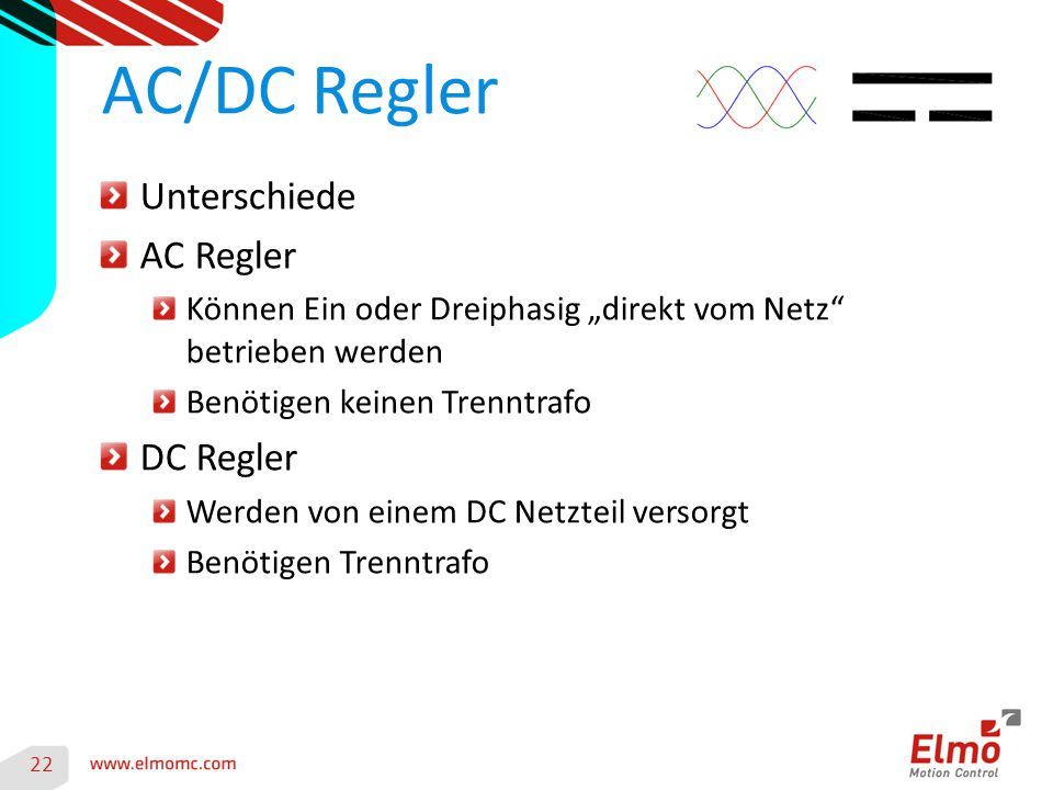 AC/DC Regler Unterschiede AC Regler DC Regler
