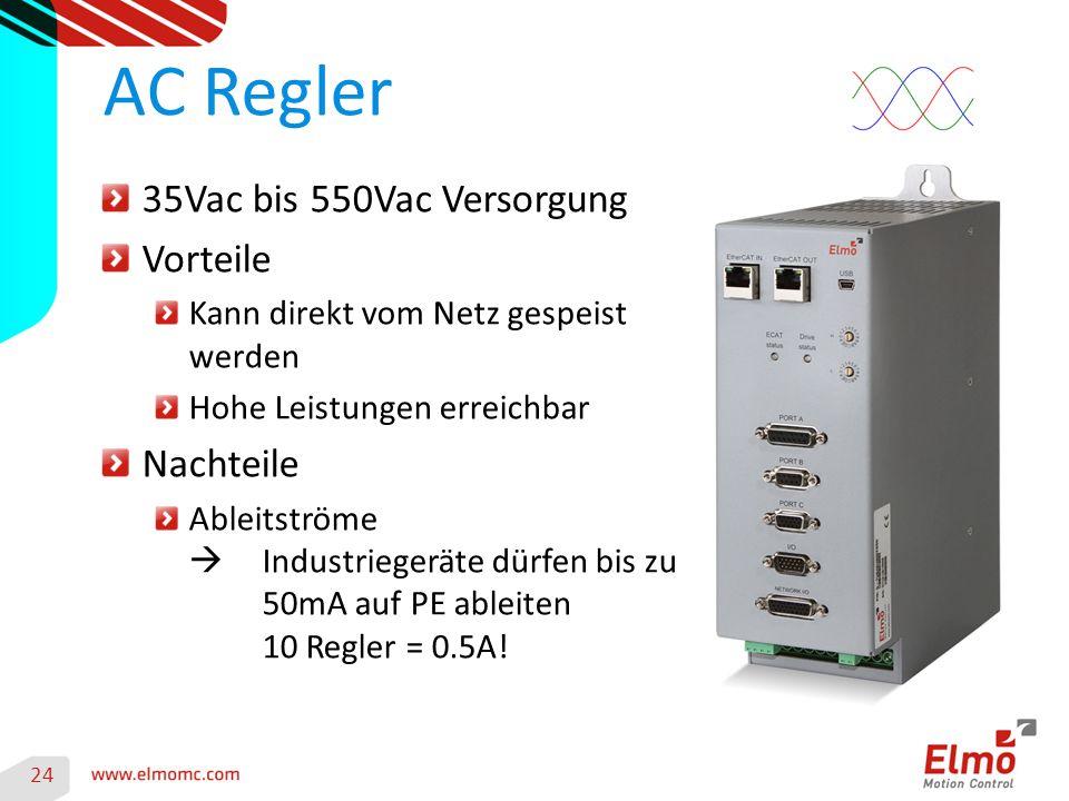 AC Regler 35Vac bis 550Vac Versorgung Vorteile Nachteile