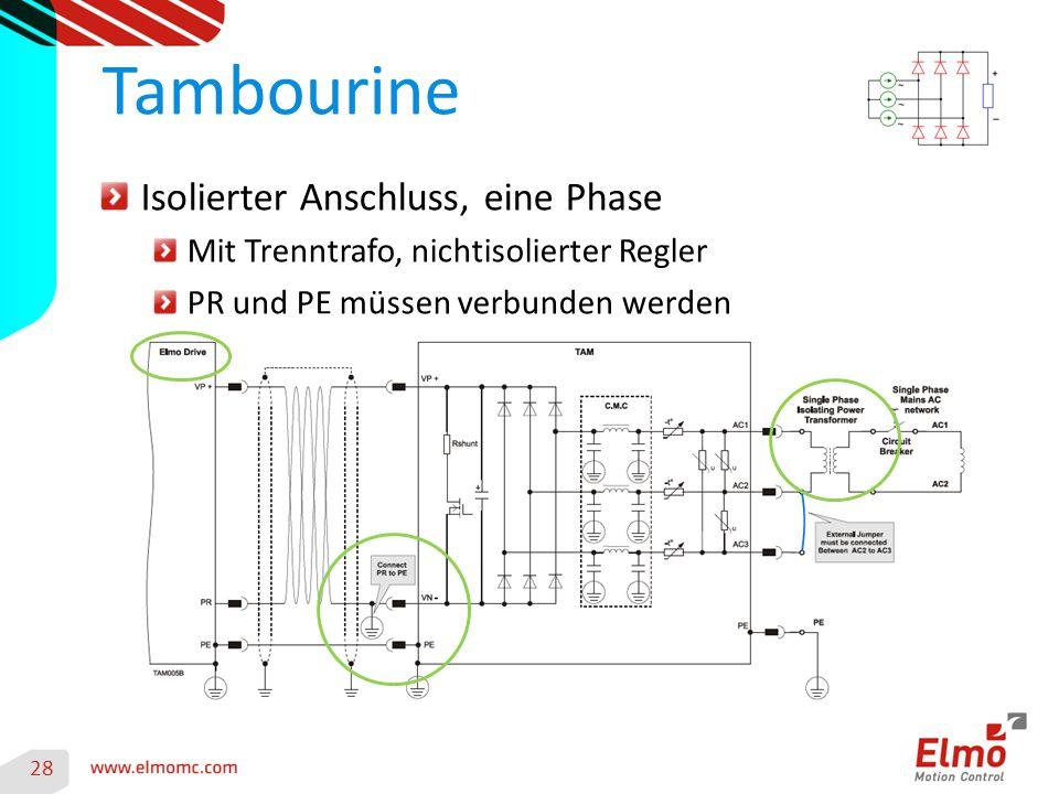 Tambourine Isolierter Anschluss, eine Phase