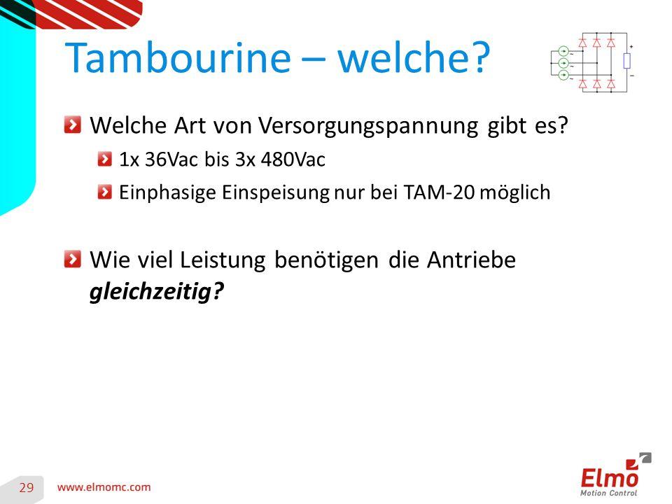 Tambourine – welche Welche Art von Versorgungspannung gibt es