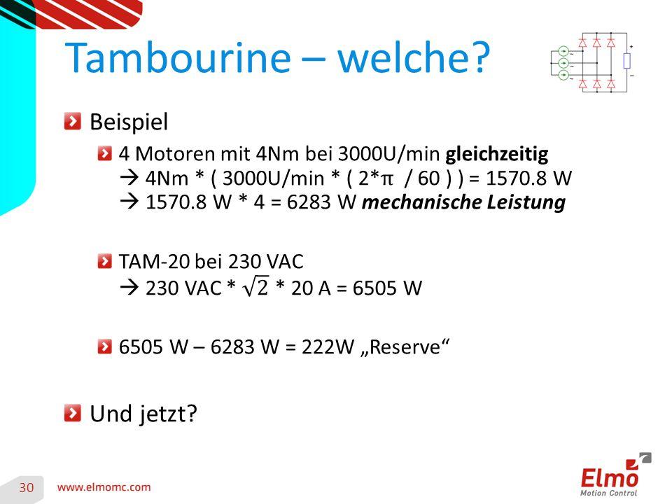 Tambourine – welche Beispiel Und jetzt