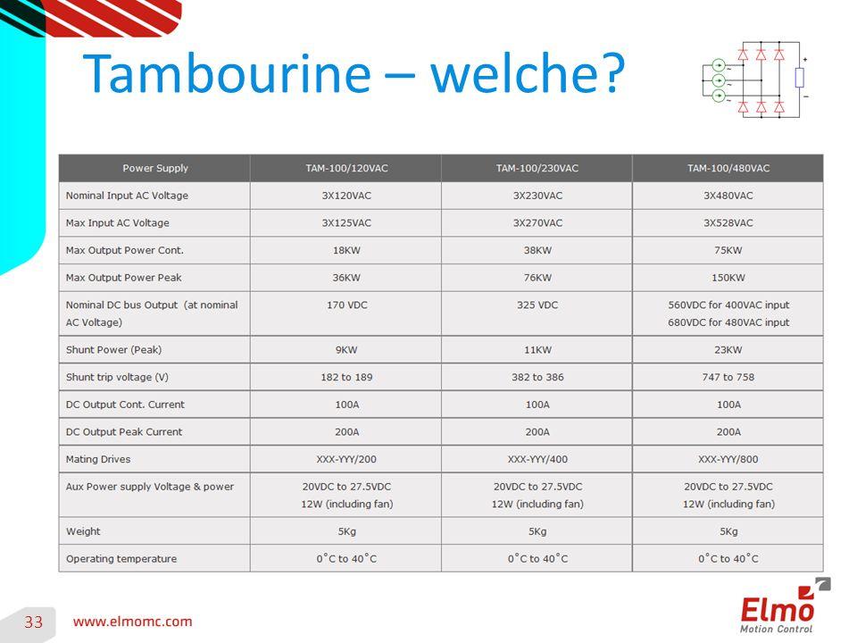 Tambourine – welche