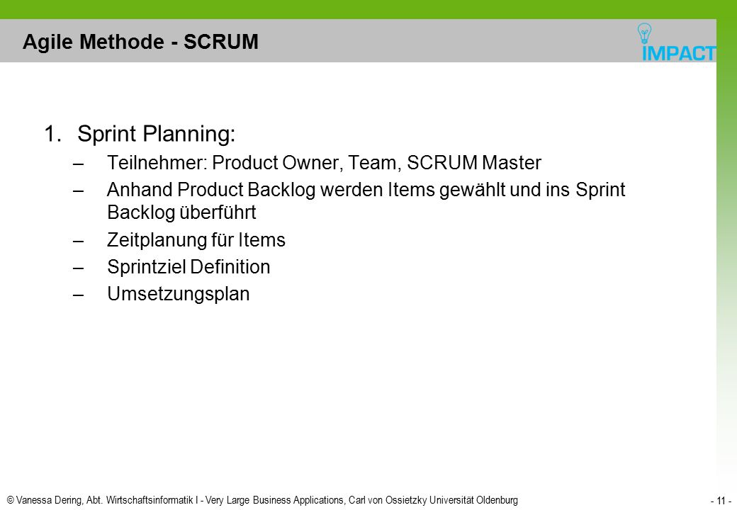 Sprint Planning: Agile Methode - SCRUM