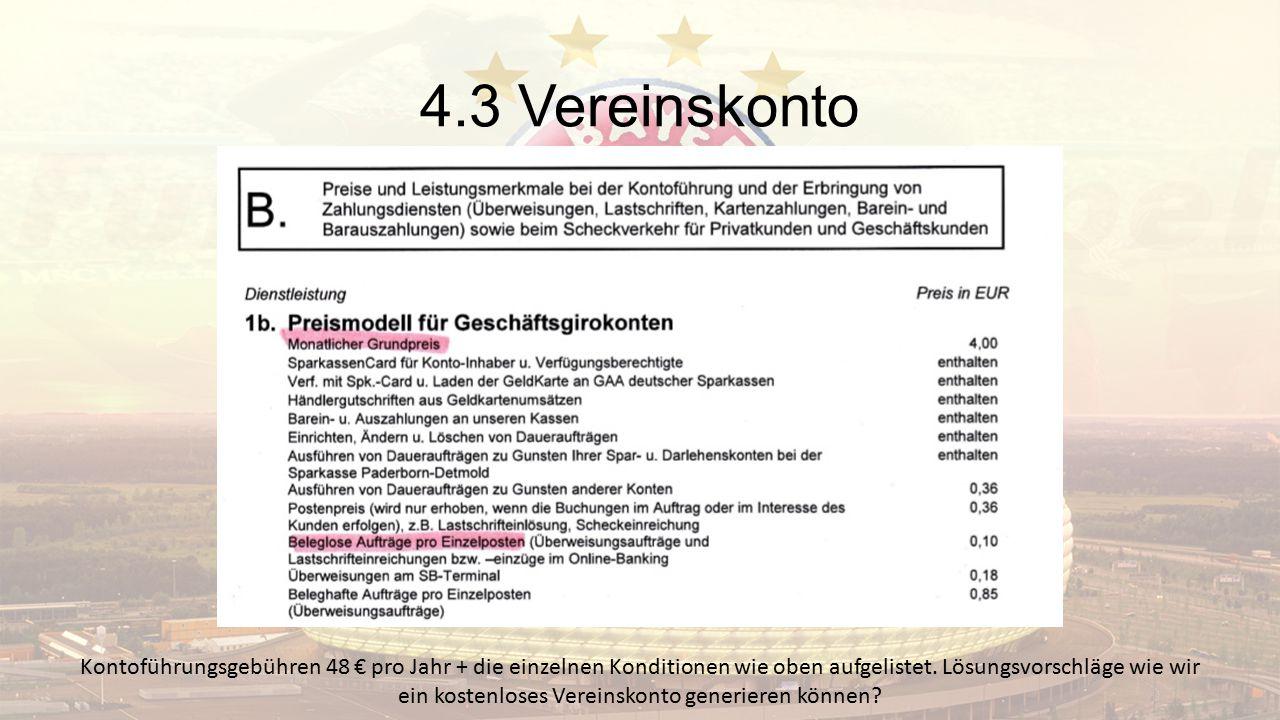 4.3 Vereinskonto