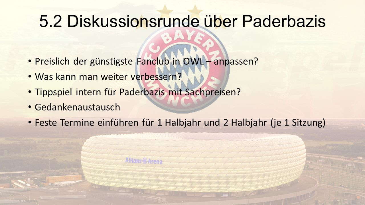 5.2 Diskussionsrunde über Paderbazis