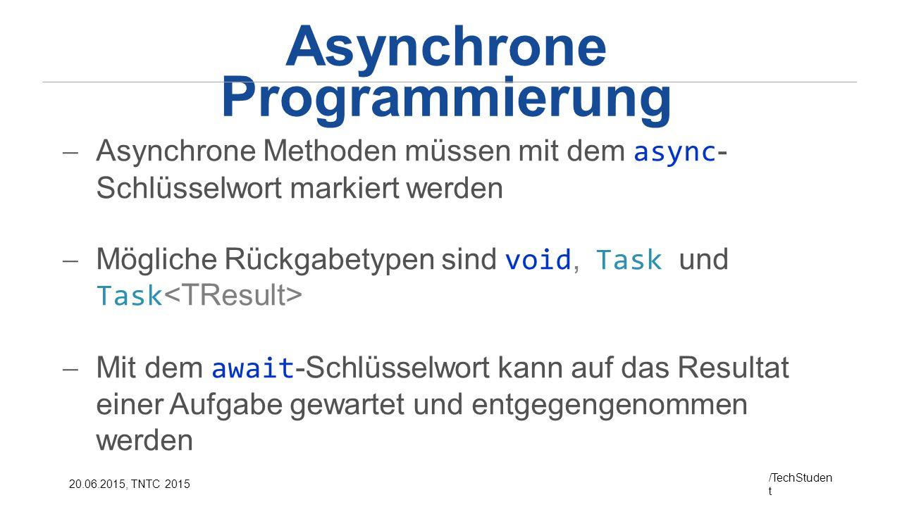 Asynchrone Programmierung