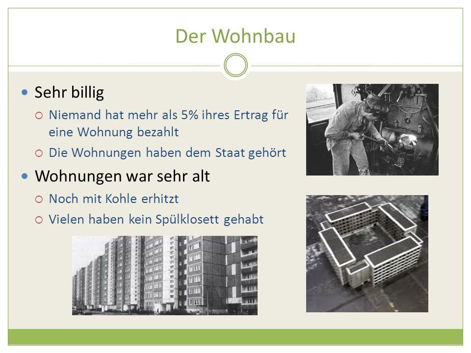 Der Wohnbau Sehr billig Wohnungen war sehr alt