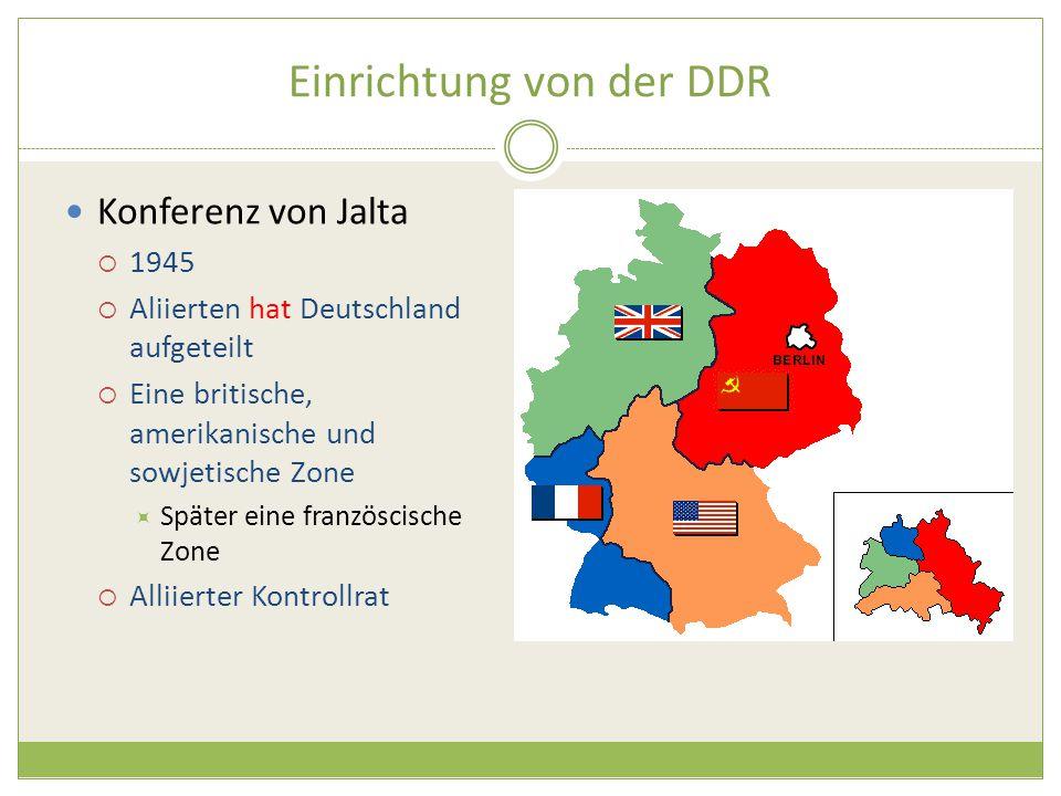 Einrichtung von der DDR