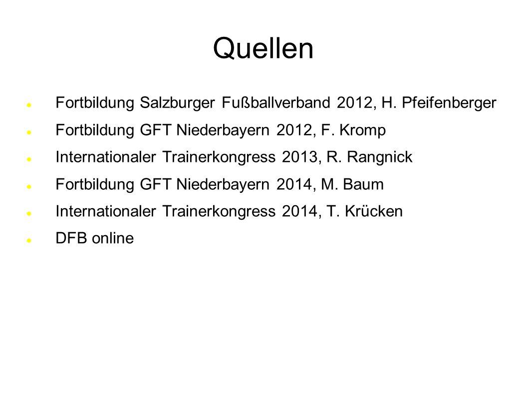 Quellen Fortbildung Salzburger Fußballverband 2012, H. Pfeifenberger