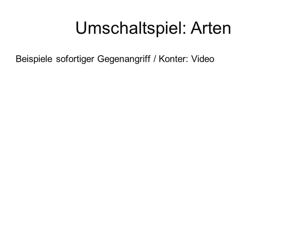 Beispiele sofortiger Gegenangriff / Konter: Video