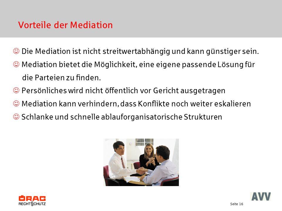 Vorteile der Mediation