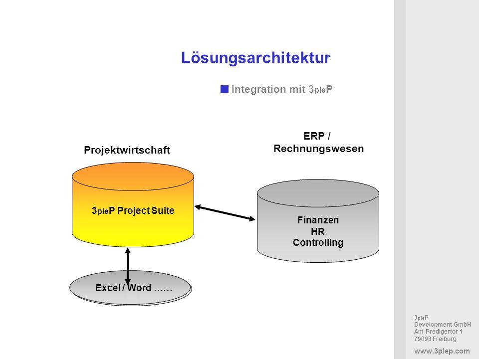 Lösungsarchitektur Integration mit 3pleP ERP / Rechnungswesen