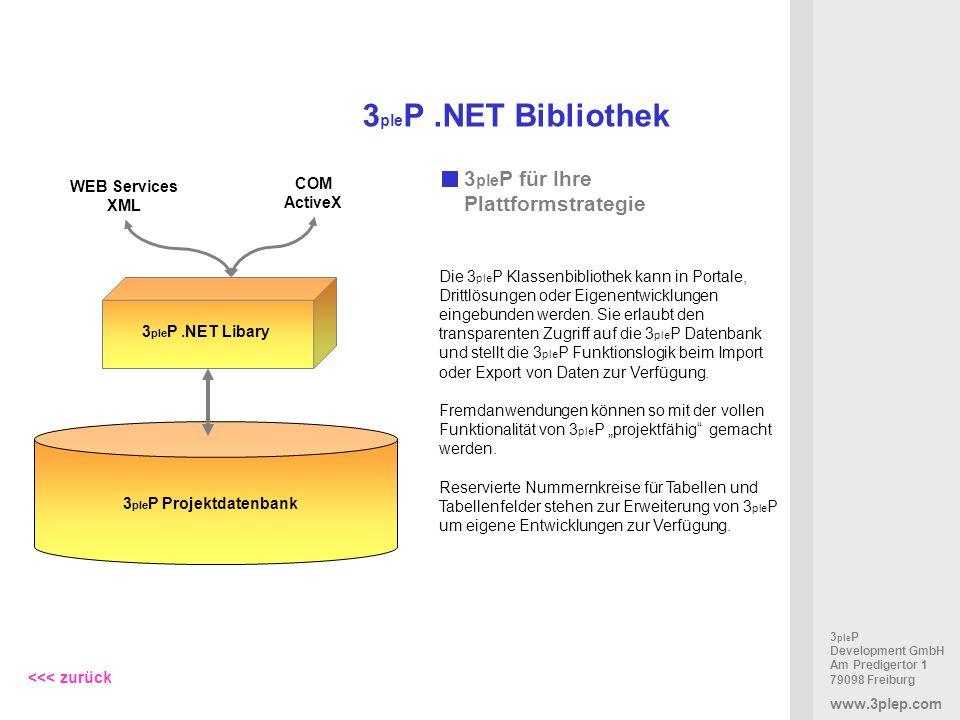 3pleP .NET Bibliothek 3pleP für Ihre Plattformstrategie