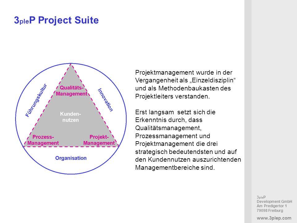 """3pleP Project Suite Projektmanagement wurde in der Vergangenheit als """"Einzeldisziplin und als Methodenbaukasten des Projektleiters verstanden."""