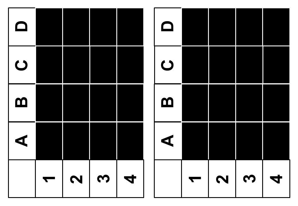 A B C D 1 2 3 4 A B C D 1 2 3 4