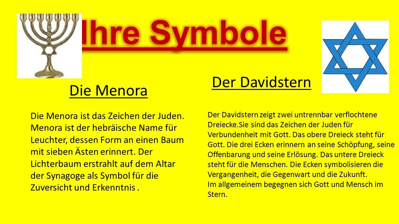 Ihre Symbole Der Davidstern Die Menora