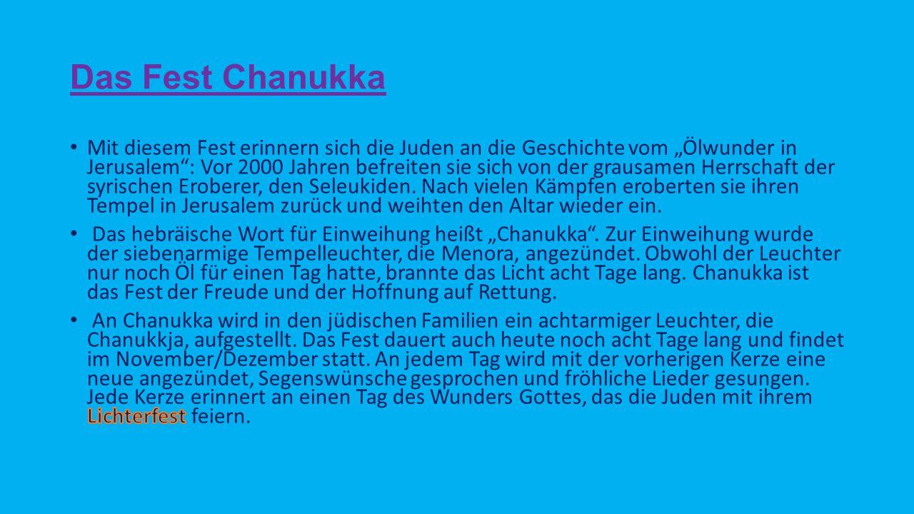 Das Fest Chanukka
