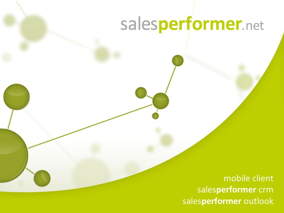 mobile client salesperformer crm salesperformer outlook