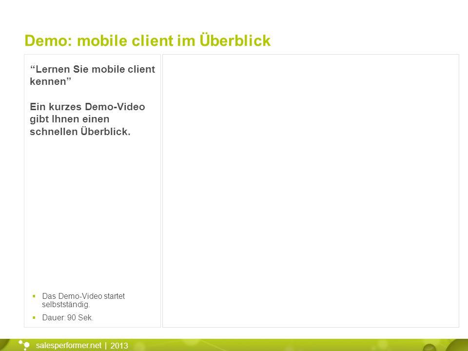 Demo: mobile client im Überblick