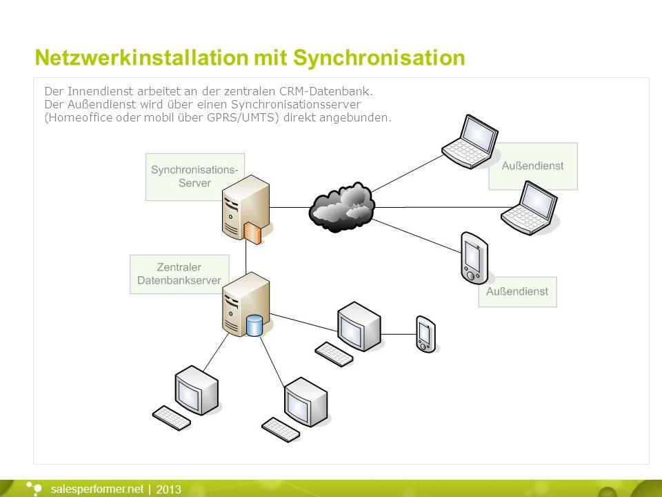 Netzwerkinstallation mit Synchronisation