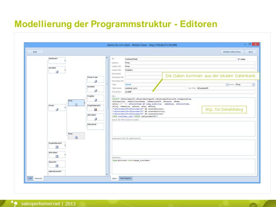 Modellierung der Programmstruktur - Editoren