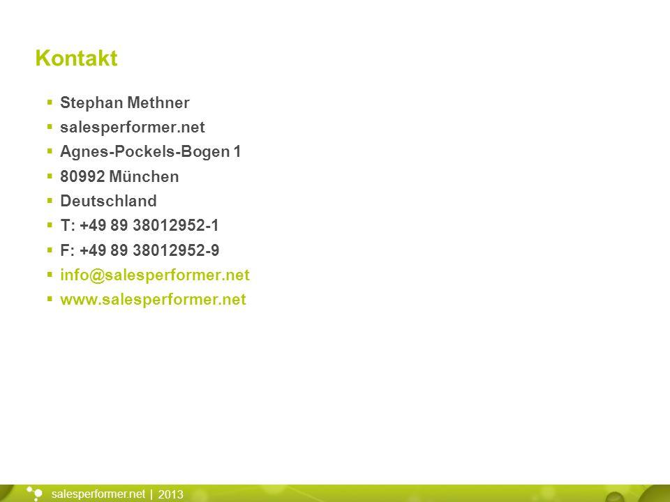Kontakt Stephan Methner salesperformer.net Agnes-Pockels-Bogen 1