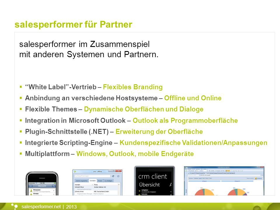 salesperformer für Partner