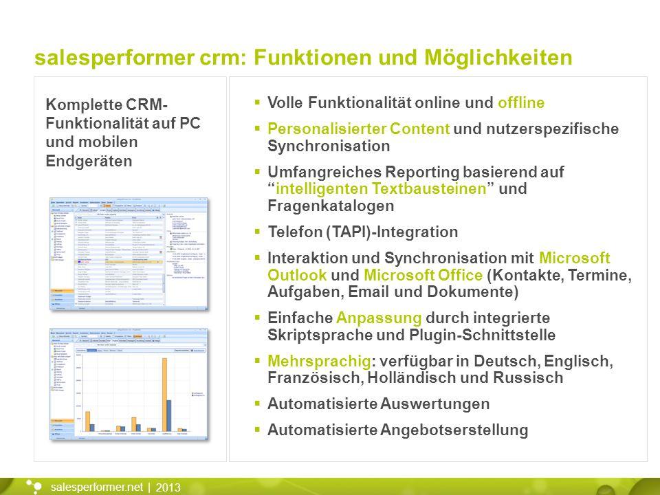 salesperformer crm: Funktionen und Möglichkeiten