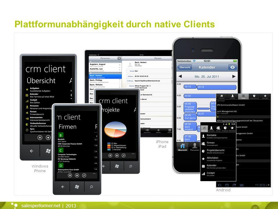 Plattformunabhängigkeit durch native Clients