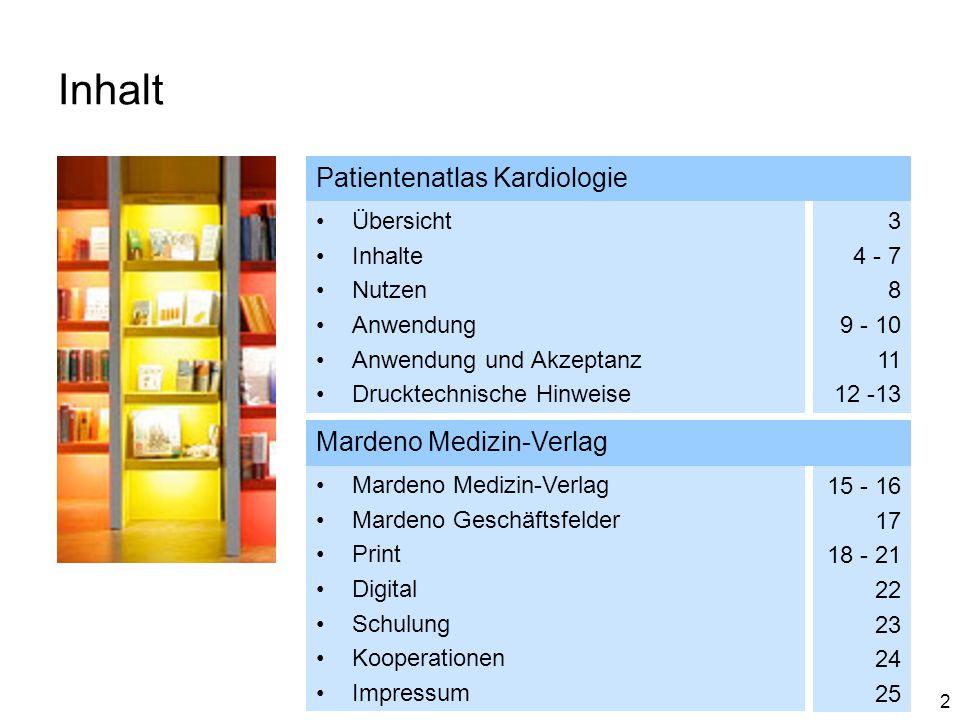 Inhalt Patientenatlas Kardiologie Mardeno Medizin-Verlag Übersicht