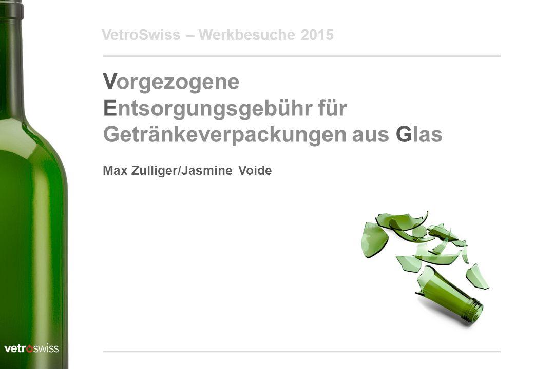 Entsorgungsgebühr für Getränkeverpackungen aus Glas